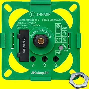 Möbeleinbau Dimmer Für Dimmbare LED Lampen,Glühlampen, HV Halogen,  Enegiespar