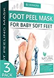 Foot Peel Mask - 3 Pack - For Cracked Heels, Dead