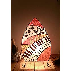 Lamp with piano and notes