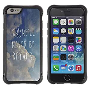Suave TPU GEL Carcasa Funda Silicona Blando Estuche Caso de protección (para) Apple Iphone 6 PLUS 5.5 / CECELL Phone case / / Quote Clouds Summer Text /