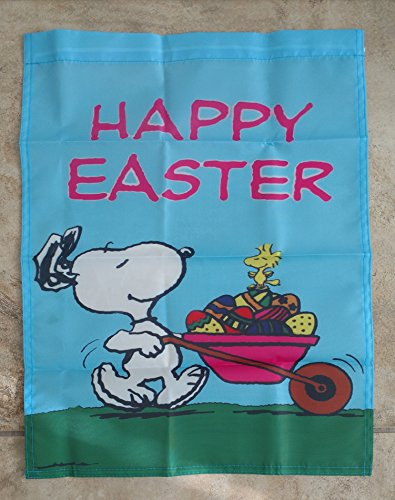 Peanuts Snoopy Gang Happy Easter 14x18 inches Garden Flag