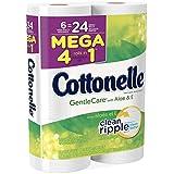 Cottonelle Gentlecare with Aloe & Vitamin E Mega Roll Bath Tissue, 408 Count