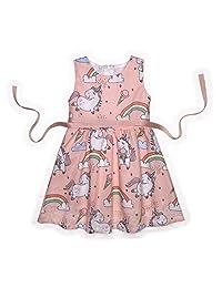 Minilove Girls Unicorn Woven Dress