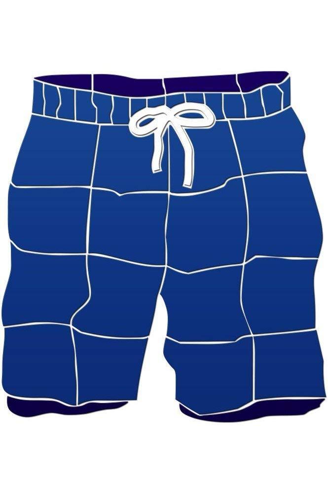 Swim Trunks Ceramic Swimming Pool Mosaic (20'' x 18'', Blue)