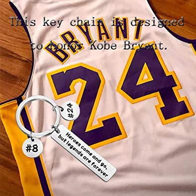 TIIMG Kobe Memorial Gift Kobe Fans/' Gift Memorial Souvenir Keychain Heroes Come and go But Legends are Forever