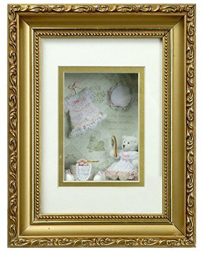 "Dollhouse Miniature 1 1/2"" Bear with Clothes Shadowbox #G4821"