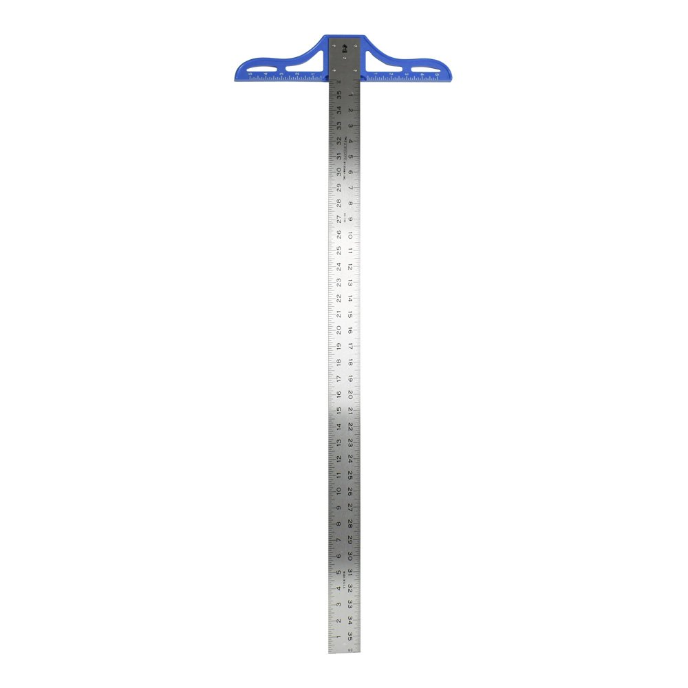 Heavy-Duty Aluminum T-Square Ruler Size: 36''