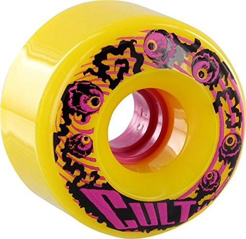 Cult Classic 70mm 80a Yellow Longboard Wheels (Set of 4)