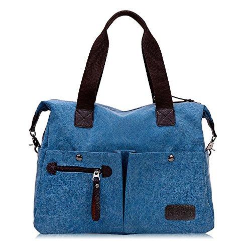 pour pour Shopping Shopping Femme Main à à Bleu Khaki bandoulière Le Sac wWfYIqBf
