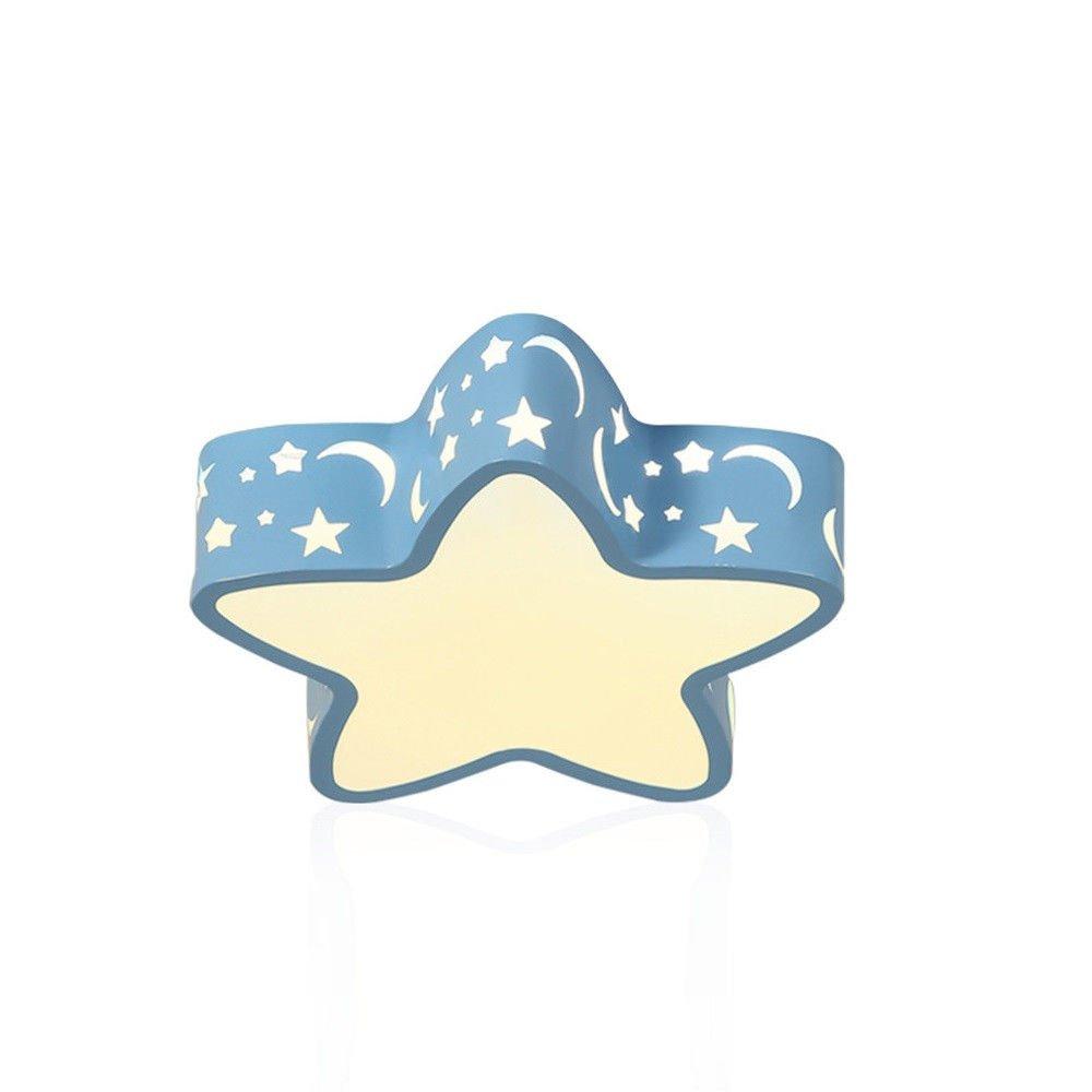 MEIHOME Deckenleuchten Blaue LED für Kinder junge Mädchen moderne Pentagramm 37  9 CM 20 W Deckenlampe für Schlafzimmer Wohnzimmer Küche Badezimmer