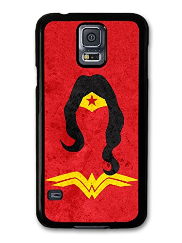 Wonder Woman Minimalist Illustration with Red Background case for Samsung Galaxy S5