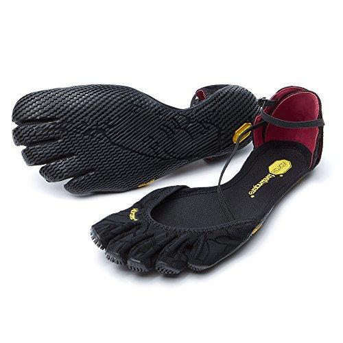 Vibram FiveFingers Women's Vi-S Barefoot Shoes Black 42 and Premium Toesock Bundle
