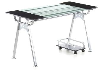 hjh OFFICE 673896 ORION - Mesa de ordenador grafito / vidrio ...