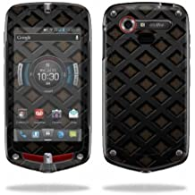Mightyskins Protective Vinyl Skin Decal Cover for Casio G'zOne Commando 4G LTE C811 GZ1 Verizon Cell Phone wrap sticker skins Black Wall
