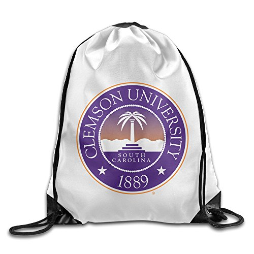 (Zhanzy Clemson University Large Drawstring Sport Backpack Sack Bag Sackpack)