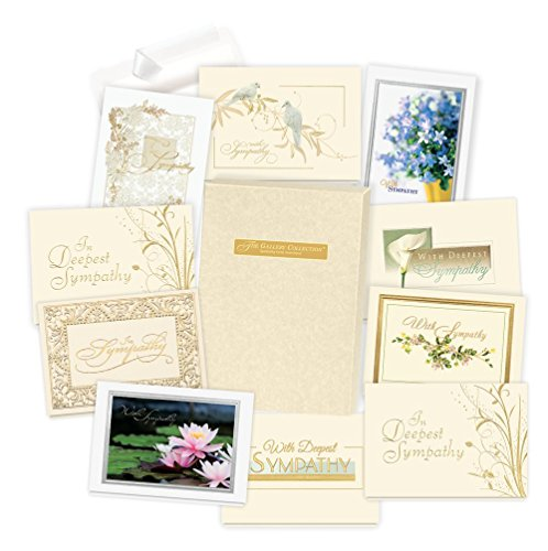 Sympathy Cards Assortment Box - 35 High Quality Cards and...