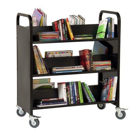 Guidecraft Book Truck Set, Black