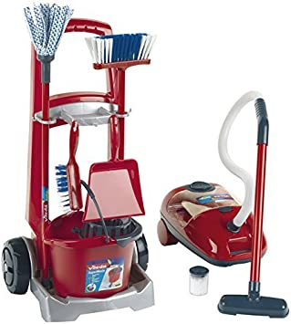 Cleaning Trolley with Vacuum Cleaner