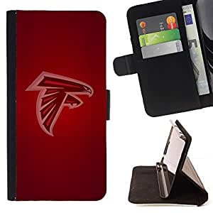 BETTY - FOR Samsung ALPHA G850 - Seahawk Football - Style PU Leather Case Wallet Flip Stand Flap Closure Cover