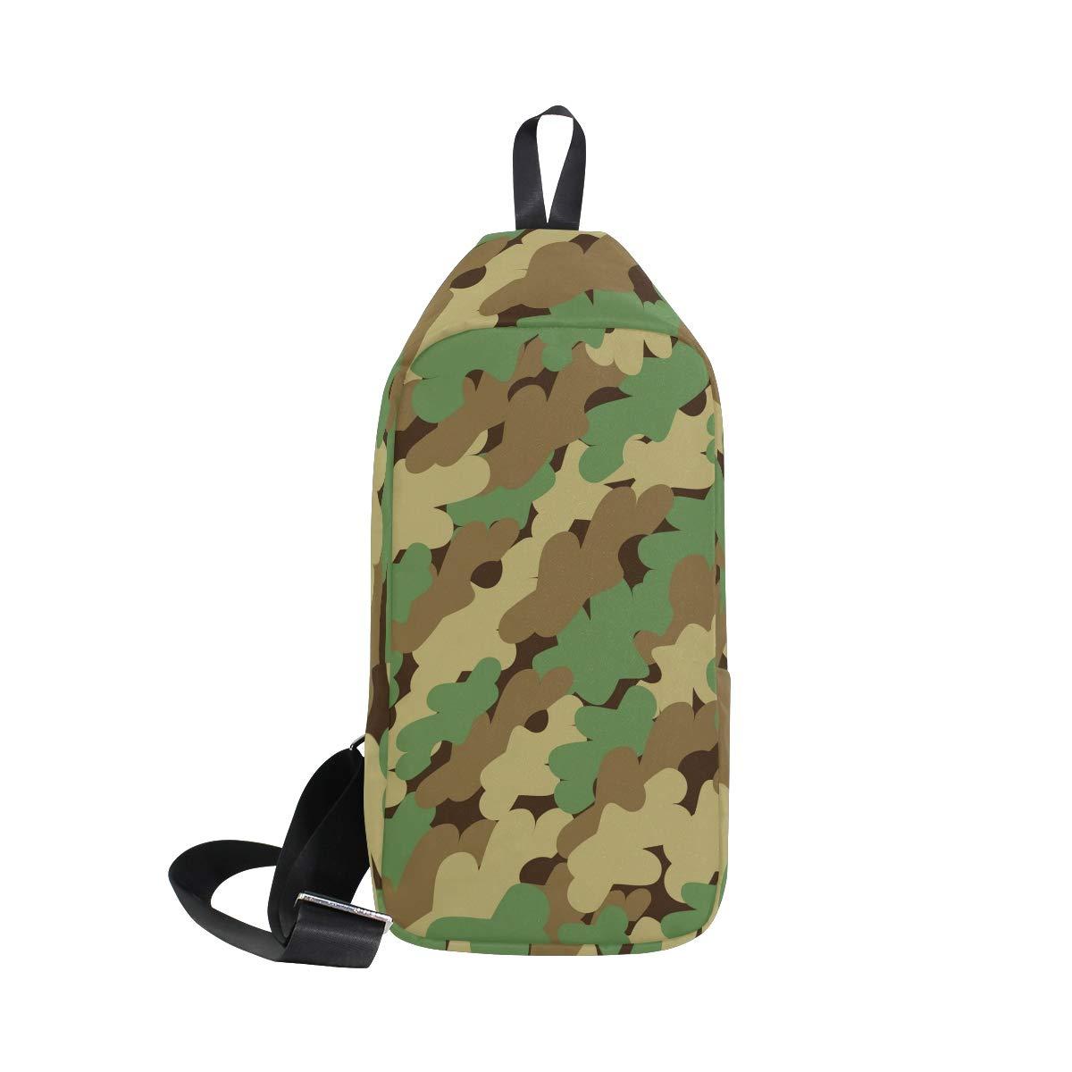 Unisex Messenger Bag Mosaic Camouflage Shoulder Chest Cross Body Backpack Bag