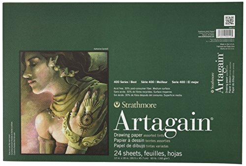 Strathmore 400 Series Artagain Pad, Assorted Tints, 12
