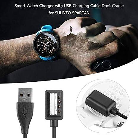 XuBa Cargador de Cable de Carga USB Cuna Cargador para Suunto Spartan Ultra HR Spartan Sport Wrist HR Suunto 9 Suunto EON Core