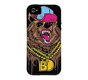 BLING BLING BEAR iPhone 5/5s Black Tough Phone Case - Design By Humans