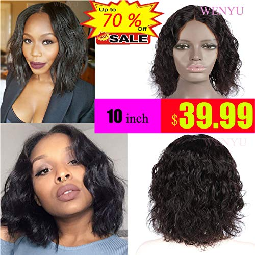 WENYU Short Bob Body Wave Wig Human Hair 13x4 Lace Front Wigs Human Hair Bob Wigs For Black Women With Baby Hair Pre Plucked Gluless Brazilian Wigs(Body 10 Inch Wig, 13x4 Lace Front Bob Wig) (Best Wen For Black Hair)