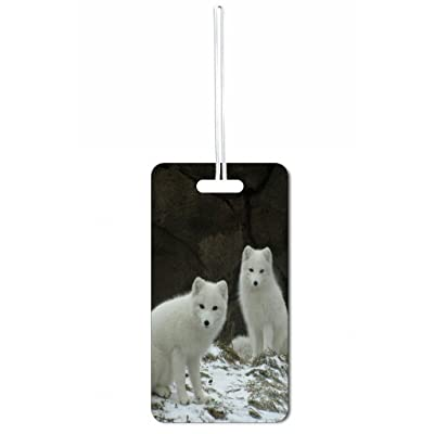 Baby Wolves Max Wilder TM Luggage Tag with Customizable Back