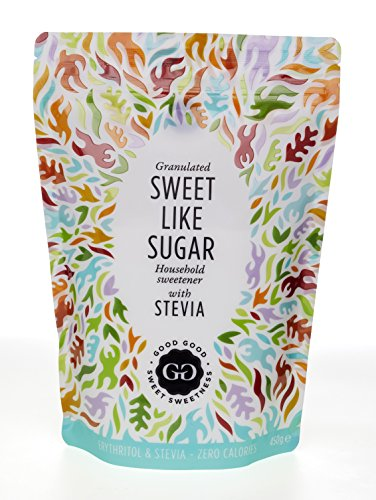 Sweet Like Sugar by Good Good - Natural Sweetener with Stevia, 16 oz (450 gr) - Natural Sugar Substitute Zero Calorie (Natural Zero Calorie Sweetener)