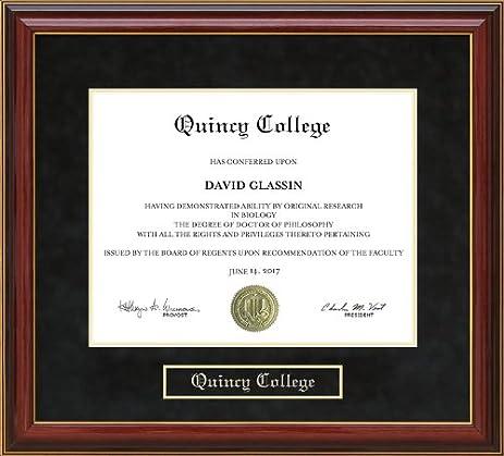 Amazon.com - Quincy College Diploma Frame - Mahogany -