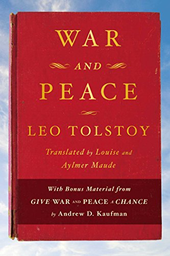 War and Peace is considered one of the world's greatest works of fiction. It is regarded, along with Anna Karenina, as Tolstoy's finest literary achievement. Epic in scale, War and Peace delineates in graphic detail events leading up to Napoleon's in...