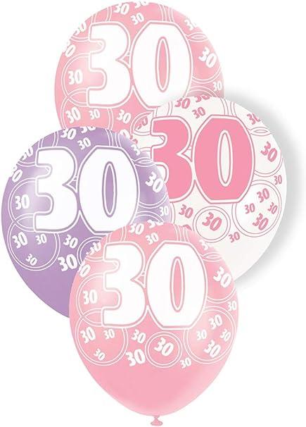 50th Birthday Glitz Pink Confetti Party Celebration Birthday Wedding Decor 3pk
