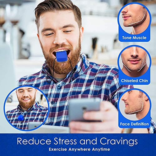 JAW EXERCISER – (3-PACK- ALL LEVELS) Jawline Exerciser Jaw, Face Exerciser – Define Your Jawline, Slim and Tone Your…