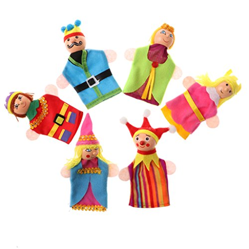 Royal Puppets Finger (MagiDeal 6 Pieces Plush Finger Puppets Royal Family Dolls Toys Kids Educational Toys)