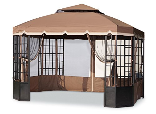 - Sunjoy Replacement Canopy Set (Deluxe Fabric) for Bay Window Gazebo