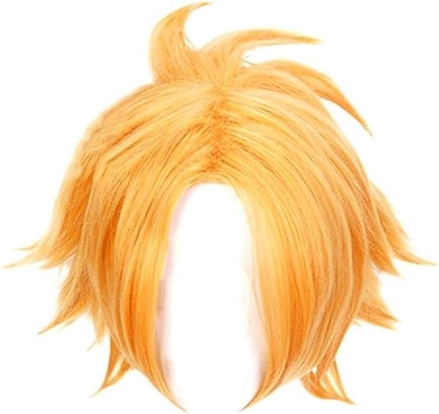 Denki Kaminari Cosplay Wig My Hero Academia Main Character Costume Short Gold Hair