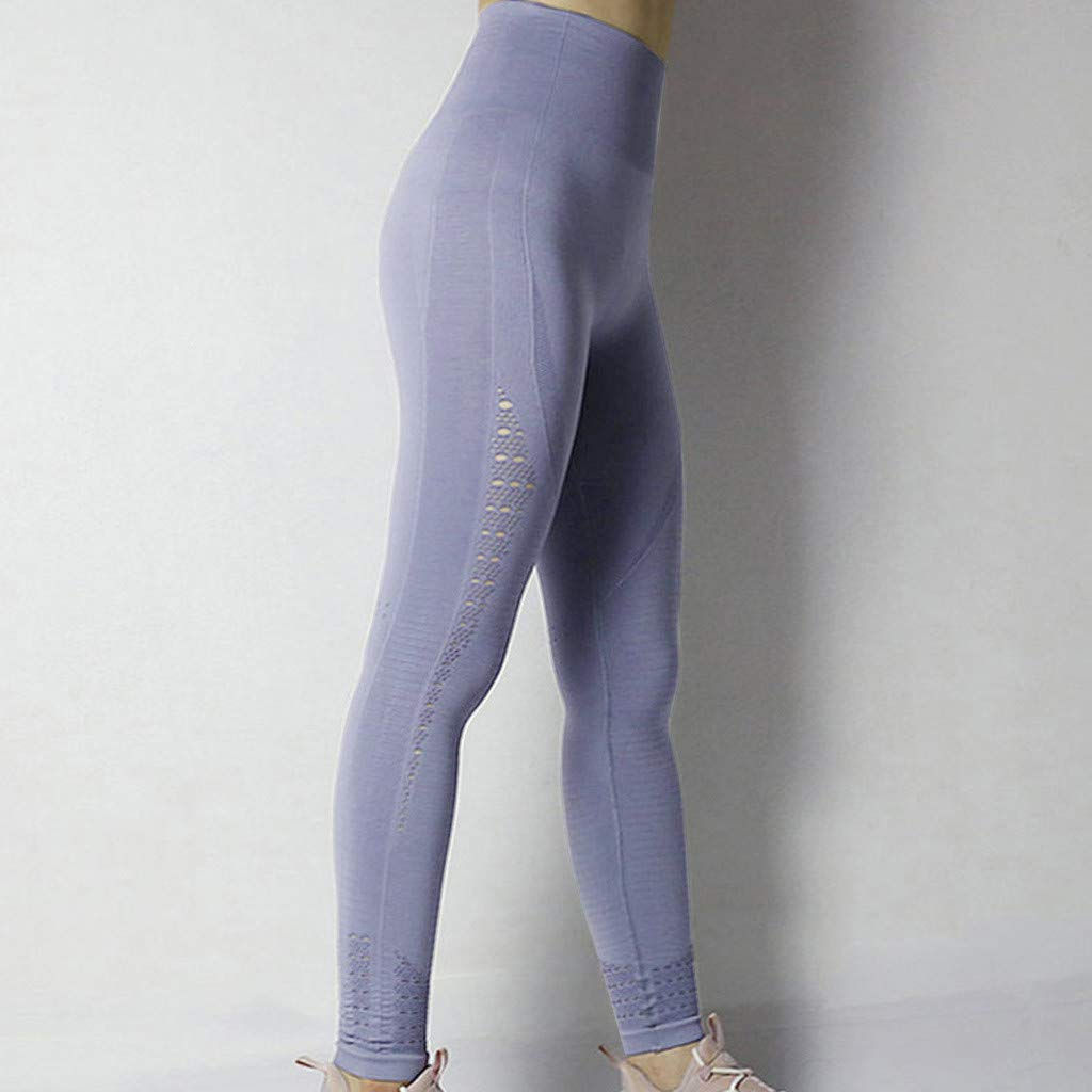 yoyorule Fashion Sports Clothes Ladies Hollow-Out High-Waist Hip-up Yoga Pants Leisure Running Pants