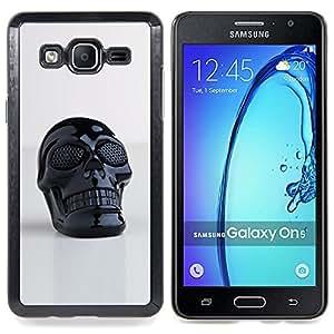 Queen Pattern - FOR Samsung Galaxy On5 SM-G550FY G550 - 3D Printed Plastic Skull Death Black - Cubierta del caso de impacto con el patr???¡¯???€????€??&sbqu