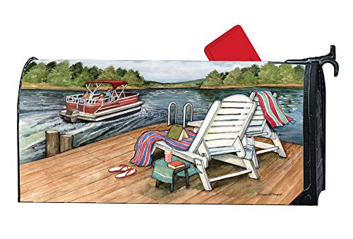 MailWraps Studio M Lake Weekend Decorative Summer, The Original Magnetic Mailbox Cover, Made in USA, Superior Weather Durability, Standard Size fits 6.5W x 19L Inch Mailbox ()
