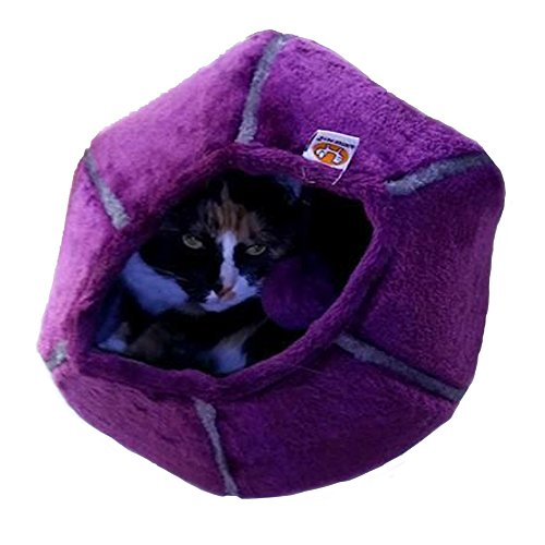 United Pets Kitty Cat Cozy Cave & Bed (Purple) by United Pets (Image #2)