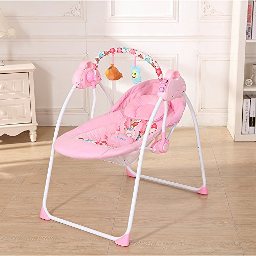 Decdeal Electric Baby Cradle Swing with Connect Mobile Music Play Function Chair for Baby Girl by Decdeal