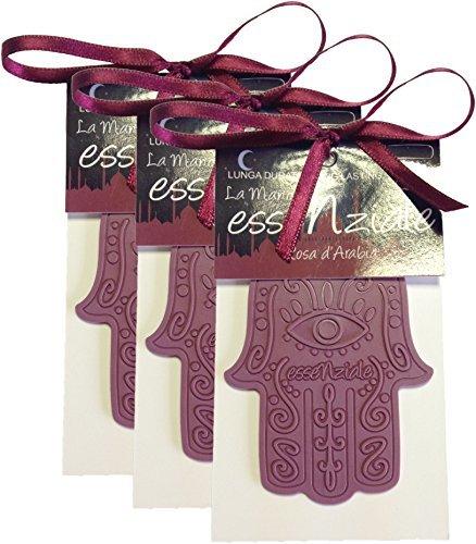 Essenziale PROFUMO PER AUTO E PICCOLI AMBIENTI - Rosa d'Arabia - confezione da 3 pezzi marval scent srl