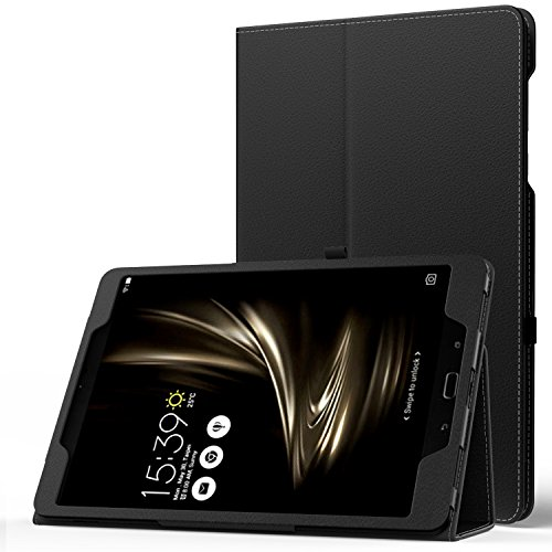 MoKo ASUS ZenPad 3S 10 Z500M Case - Slim Folding Stand Cover with Auto Wake/Sleep Function for ASUS ZenPad 3S 10 Z500M 9.7-Inch Tablet 2016 Release (NOT FIT Model# Z500KL), Black