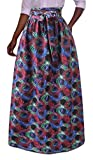Alion Women's Pleated Skater Africa Ethnic Style Print Maxi Skirts 5 2XL