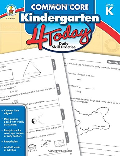 Common Core Kindergarten 4 Today: Daily Skill Practice (Common Core 4 Today) (Common Core Kindergarten)