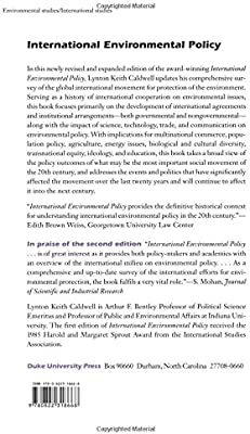 International Environmental Policy: From the Twentieth to the Twenty-First Century