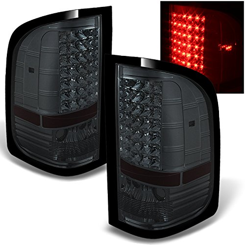 For Smoke 07-13 Siverado Pickup Full LED Tail Lights Brake Lamp Replacement Driver And Passenger Side