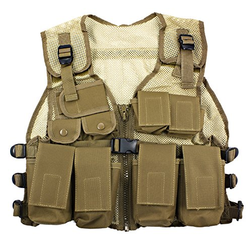 Kids Army Combat Vest - Desert Tan -