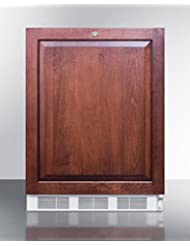 Summit FF7LBIIFADA Refrigerator, Brown